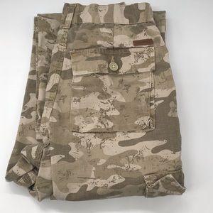 Boys Carhartt tan brown Camouflage pants size 12